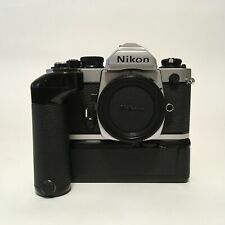 Nikon Fm2 Silver Body 35mm Slr Mf Film Camera w/ Md-12 Motor Drive