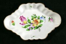 Small Vintage Herend Six Sided Floral Dish Handpainted Made In Hungary Nr MINT