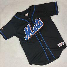 Majestic Carlos Beltran #15 New York Mets Black Sewn Jersey Kids Medium Baseball