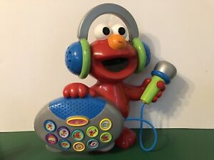 Elmo's Greatest Hits Sing Along Boombox Toy W/ Mic Fisher Price Mattel 2004 HTF