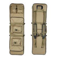 100CM Hunting Tactical Shotgun Rifle Bag Padded Gun Carry Case Backpack Tan