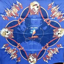 HERMES silk scarf carre EXPEDITIONS illumineront FRANCAISE 70 cm vintage-style soie