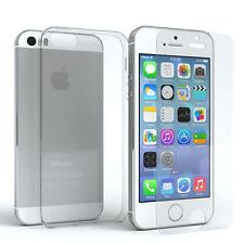 Für Apple iPhone 5 5s SE Schutzhülle Silikon Handy Cover Case Hülle + Schutzglas