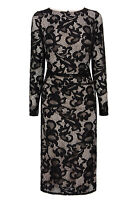 ex Coast Lace Overlay Wedding Races Prom Formal Cocktail Occasion Dress