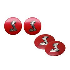 4Pcs Red Cobra Car Wheel Center Hub Cap Emblem Stickers for Ford Mustang Shelby