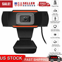 Upgrade HD Webcam USB Computer Web Camera With Microphone for PC Laptop Desktop
