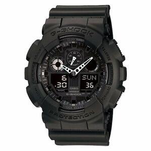 Casio G-Shock Digital GA100-1A1 Watch Analogue Black GA100