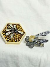 Harmony Kingdom art Neil Eyre Designs Honeycomb Honey Bee Worker Bees magnet