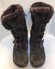 Earth Women 9 B Lodge Beaver Faux Fur Boots