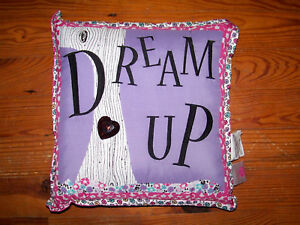 """Large 15"""" ID COLORS Pink Purple White Black DREAM UP Tree Flower Square Pillow"""