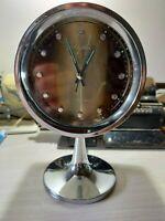 ⏰ RARE Vintage RHYTHM Space Age Mechanical Winding Alarm Clock Made In Japan
