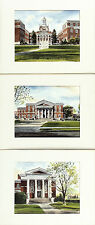 DAVIS GRAY c1970s SET OF 3 Ltd Ed GRAY'S WATERCOLOR Lithos UNIVERSITY OF ALBANY