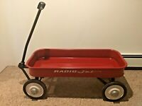 "Radio Jet Wagon Vintage Rare Full Size 34"" Red and white 1950s/1960s"