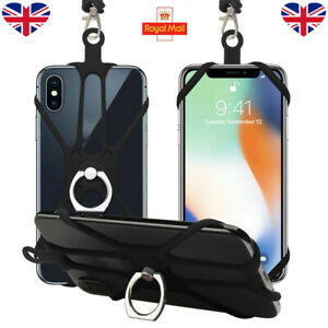 2021 Universal Mobile Phone Silicone Lanyard Case Cover Holder Neck Strap Belt
