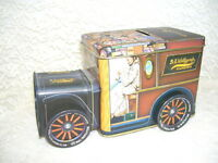 ANTIQUE TRUCK TIN BANK W/ TURNING WHEELS WOLFGANG'S CANDIES
