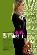 I Don't Know How She Does It Original D/S One Sheet Movie Poster 27x40 NEW 2011