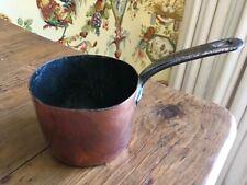 Antique English Copper Tiny Sauce Pan Initials Ehb