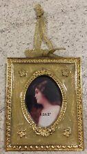 Faberge Yellow Gold Enamel Rectangular Hanging Photo Frame Xmas Decoration