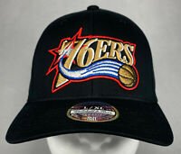 Mitchell and Ness NBA Philadelphia 76ers Team Flex Fitted HWC Hat, L/XL