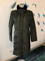 luxueux manteau fourré duvet noir métal MAX MARA taille 40 FR (L) EXCELLENT ETAT