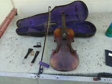 COUNTRY Violin-Fiddle-Antique-Vintage-Used With Vintage Case