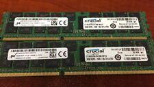 Crucial 32gb 2x16 Server Memory DDR3 PC3L 12800R 1600 ECC MT36KSF2G72PZ-1G6E1FE