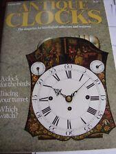 ANTIQUE CLOCKS MAG JANUARY 1989 TRACING YOUR TURRET ROY CONDER GRANTHAM CLOCKS