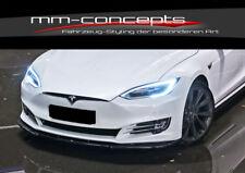 CUP Spoilerlippe SCHWARZ für Tesla Model S FL Frontspoiler Spoilerschwert Lippe