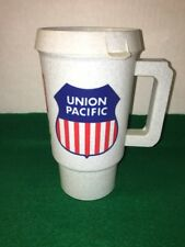 Union Pacific Lines RR Coffee Mug/Tumbler Style Lidded Cup, Free Shipping!!!