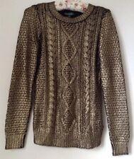 Ralph Lauren Ancient Gold Sweater Jumper XS NEW RRP £160
