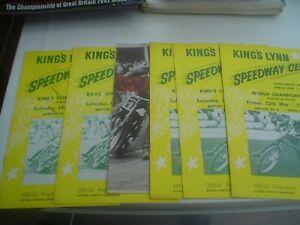 KINGS LYNN     SPEEDWAY PROGRAMMES    1967       (6)