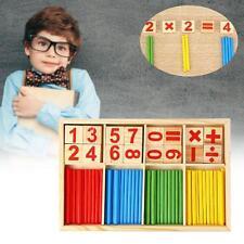 Creative Kids Wooden Mathematical Intelligence Sticks Figures Game Preschool UP