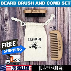 Beard Brush and Comb Set with Travel Bag -Bull with Beard- Bull No.28