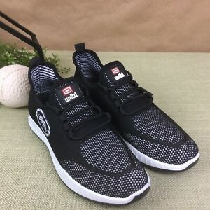 ECKO UNLTD Men's Athletic Sports Black Sneakers Shoes Size 11 (D,M) RHINO LOGO