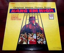D.Frontiere  Original  Hang Em High  Soundtrack 1968 United Artists UAS5179 VG++
