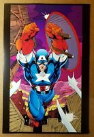 Captain America Avengers Marvel Comics Poster by Jim Lee