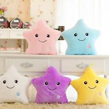 Romantic LED Light Up Glow Pillow Soft Cosy Relax Bed Cushion Star Shape Gift KX
