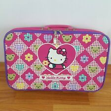 Vtg Sanrio Hello Kitty Suit Case Carry On Travel Bag Luggage Pink 90's 1990s