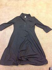 AVON Mark Woman's Solid Carcoal Gray Short Sleeve tee T-shirt dress Top Medium