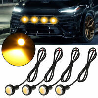 4pcs LED Amber Grille Lighting Kit Universal ForTruck SUV Ford SVT Raptor Style