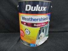 DULUX 10 LITRE WEATHERSHIELD EXTERIOR LOW/SHEEN SUPERHI VIVID- WHITE COLOR PAINT