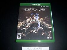 Replacement Case (NO  GAME) Middle Earth Shadow of War XBOX ONE 1 XB1 Original