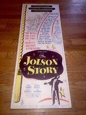 Original Movie Theatre Poster Al JOLSON The Jolson Story insert 1946 ULTRA RARE!