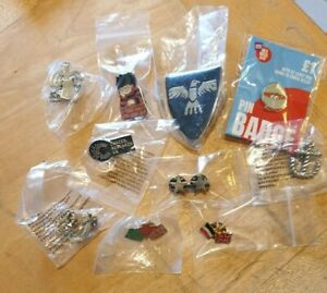 Collection of 10 different pin badges. (SET C) BUY IT NOW Job Lot.