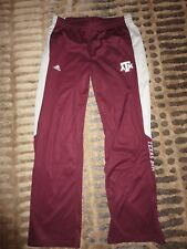 Texas A&M Aggies Basketball Team Game Used Worn Tear away adidas Pants Lg L