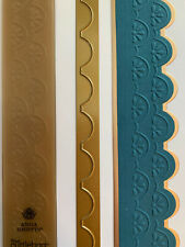 Anna Griffin Ornate Flower Scallop Border Embossing Folder & Matching Metal Die