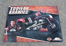 NHRA Eddie Krawiec Signed Autographed Harley Davidson Screamin Eagles Poster