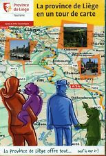 Sheet road Map of Liege, Belgium