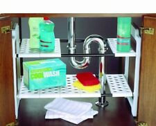 Under Sink Storage Unit Organizer Space Saving Shelf Tidy Rack Cupboard Addis