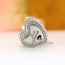 Authentic Pandora Wedding Heart Clear CZ Sterling Silver with 14K Charm 792083